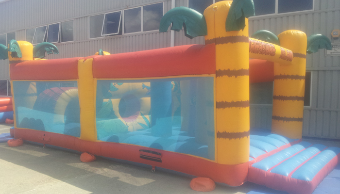 35ft long Treasure Island Inflatable Hire