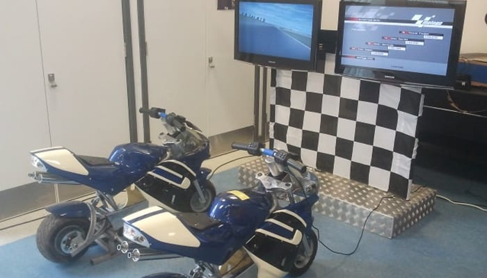 Motobike Simulators Hire Team Building UK