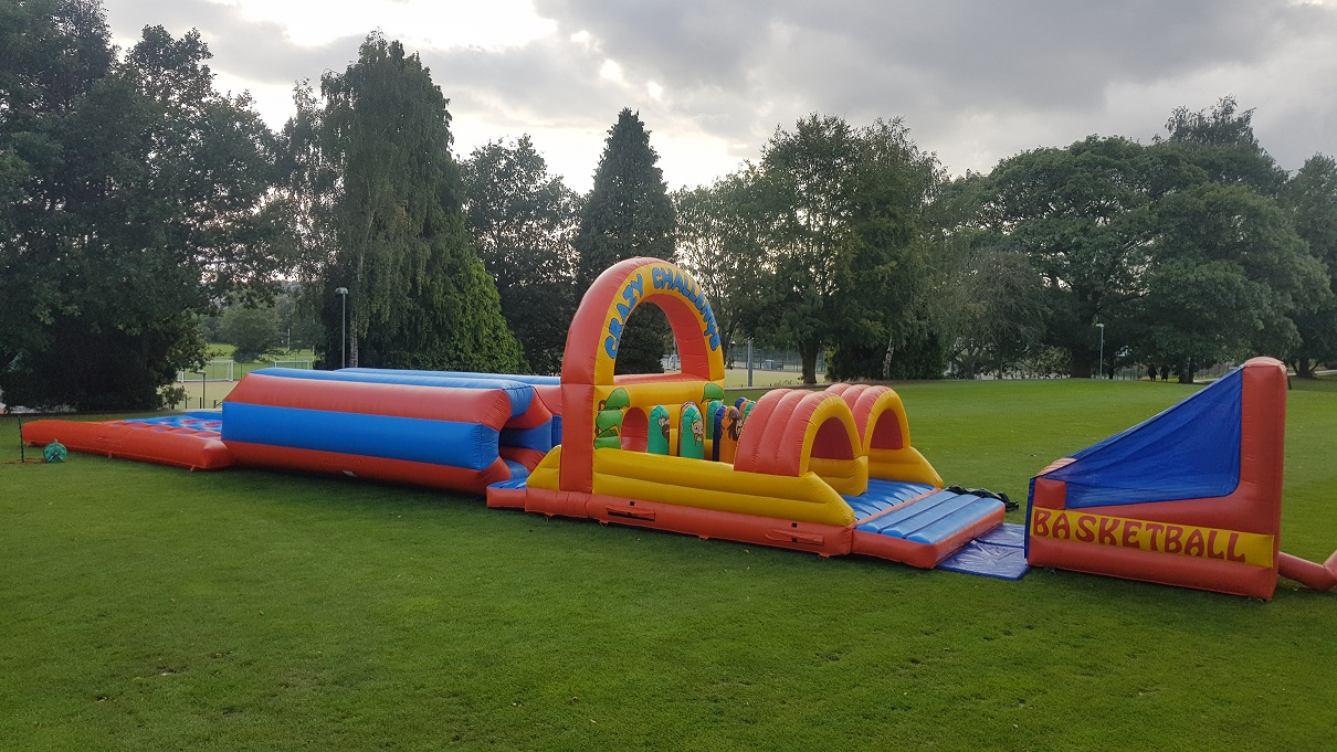 Matthews Leisure, 70ft Inflatable Obstacle Course hire